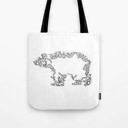 Sun (flower) Bear Tote Bag