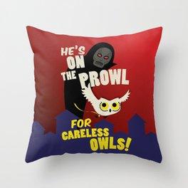 Careless Owls Throw Pillow