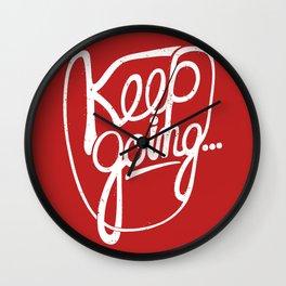 KEEP GO/NG Wall Clock