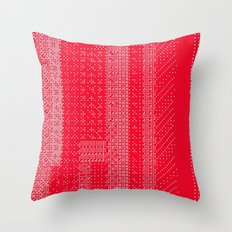 White Over Red Throw Pillow