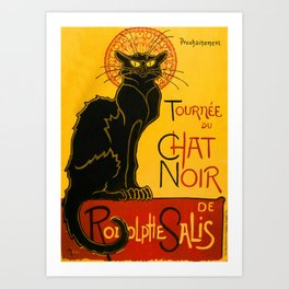 Le Chat Noir The Black Cat Art Nouveau Art Print