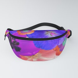Tropical Flower Pattern Fanny Pack