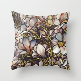 Louis Comfort Tiffany - Decorative stained glass 10. Throw Pillow
