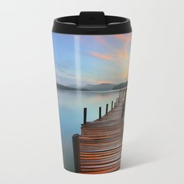 Pier on the Water at Sunset  Travel Mug