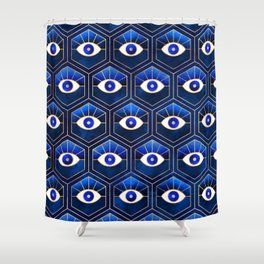 Eyes / Blue Shower Curtain