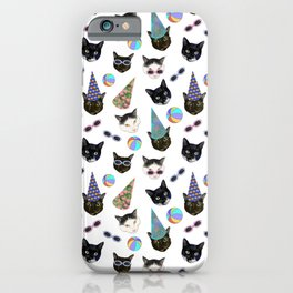 Festive Birthday Cat Party iPhone Case