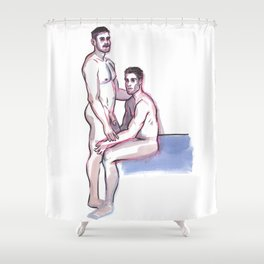 PJ & JIMMY, Nude Men by Frank-Joseph Shower Curtain