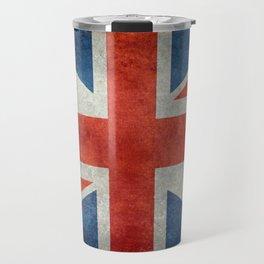 """UK Union Jack flag """"Bright"""" retro grungy style Travel Mug"""
