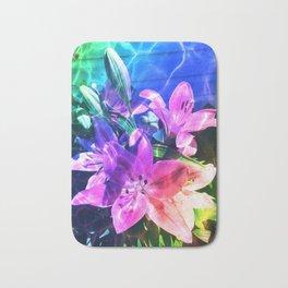 Rainbow flowers Bath Mat