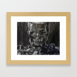 Death Smokes Framed Art Print