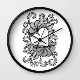 Heart Doodle 1407 Wall Clock