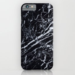 Marble Black Texture iPhone Case