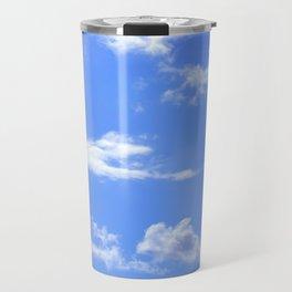 blue summer sky Travel Mug