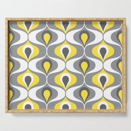 Retro ogee ovals Illuminating Yellow, Ultimate Gray Serving Tray