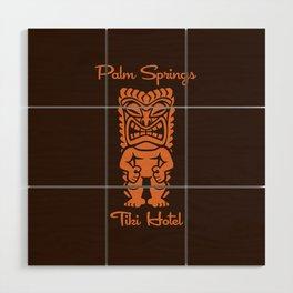 Tiki Hotel Logo Wood Wall Art
