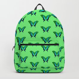 Swallowtail Butterfly in Green, Turquoise & Black Backpack
