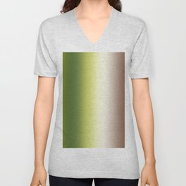 Ombre Shades of Green 1 Unisex V-Neck