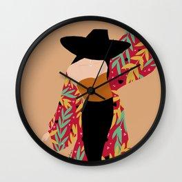 Kimono girl Wall Clock