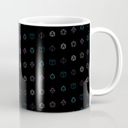 Dungeons and Dragons Aesthetic Dice Coffee Mug