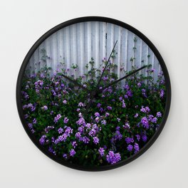 Purple Lantana Wall Clock