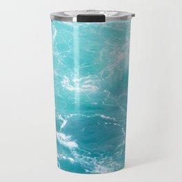 Turquoise Turbulence Travel Mug