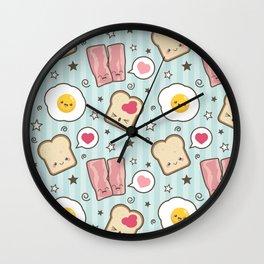 Bacon & Fried Egg Sandwich Kawaii Style Wall Clock