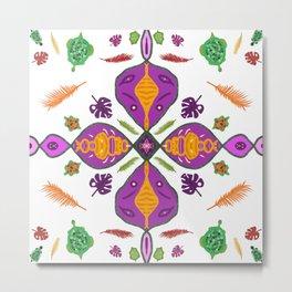 Exotic turtle mandala Metal Print