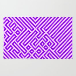 Optical Chaos 03 purple Rug