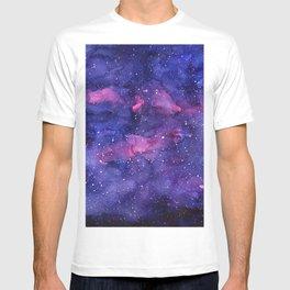 Galaxy Pattern Watercolor Nebula Texture T-shirt
