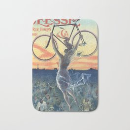 Vintage French Bicycle Poster 1898 Bath Mat