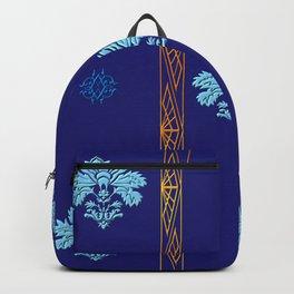 Chic Classique Art Deco Mediterranean blue Backpack