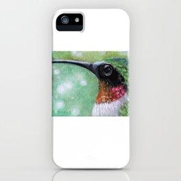 Ruby Throated Hummingbird Original Art iPhone Case