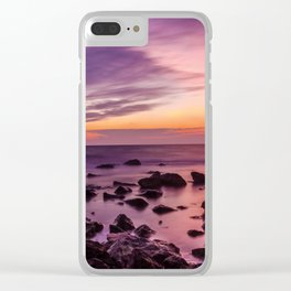 Waterscape with Sunset Clear iPhone Case
