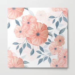 Seamless watercolor floral illustration. Metal Print