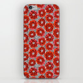 Poppy Flowers by Veronique de Jong iPhone Skin