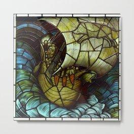 "Edward Burne-Jones ""Viking Ship"" Metal Print"