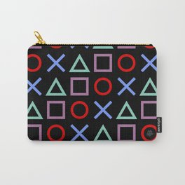 Gamer Pattern (color on black) Carry-All Pouch