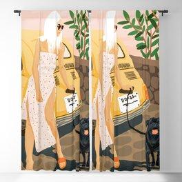 Tour #illustration Blackout Curtain