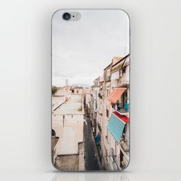 View of Naples with clouds iPhone Skin