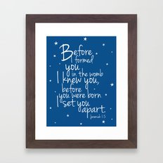 I know you. Framed Art Print