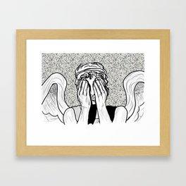 Weeping Angel Framed Art Print