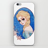 frozen elsa iPhone & iPod Skins featuring Elsa - Frozen by Naineuh
