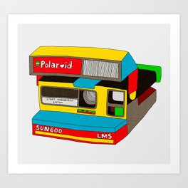 Captures Great Moments (color toy) Art Print