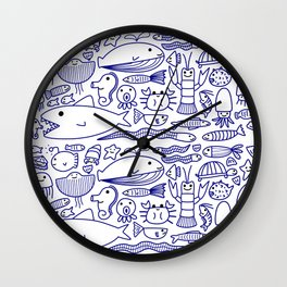 Lines Under the Sea Wall Clock