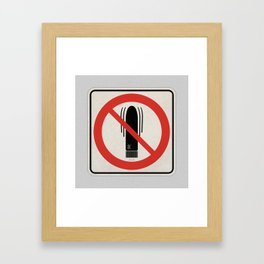 Toy Story - My Friend Dick is Not Allowed Framed Art Print