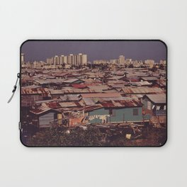 'MODERN BUILDINGS TOWER OVER THE SHANTIES CROWDED ALONG THE MARTIN PENA CANAL' Laptop Sleeve