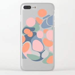 Abstract Shape Flower Art Clear iPhone Case