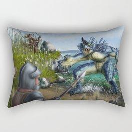 Lake Monster Rectangular Pillow