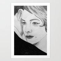 gatsby Art Prints featuring Gatsby by Channel Silver