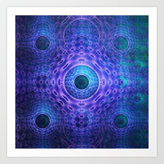 Groovy abstract with Circles and tribal patterns  Art Print